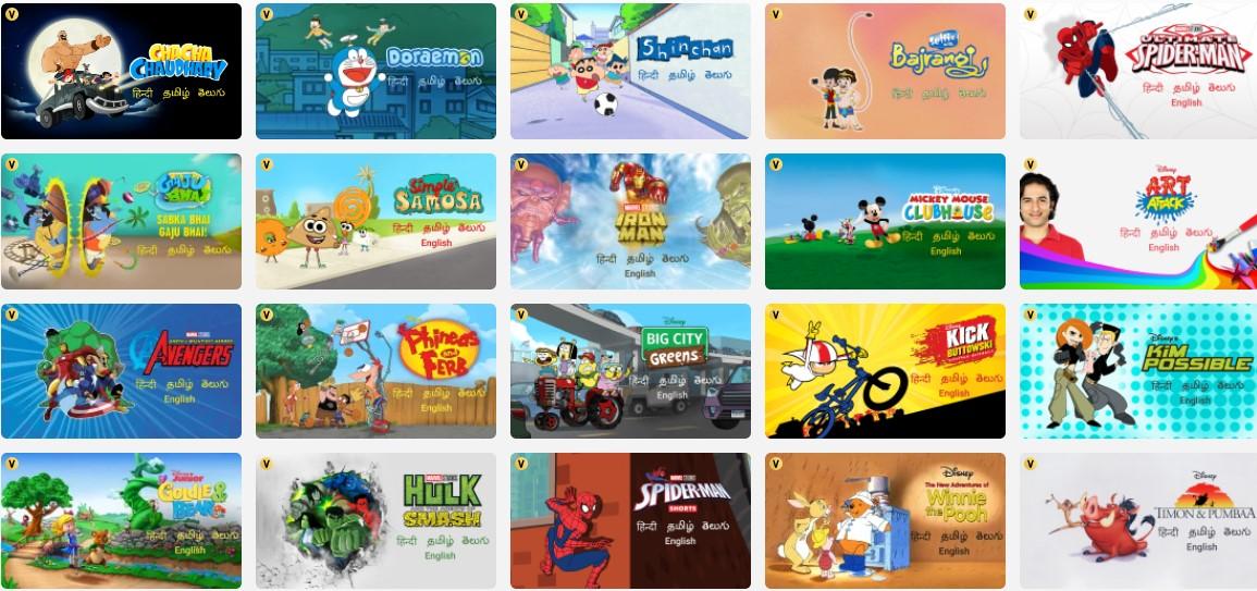 TV Shows on Disney+Hotstar