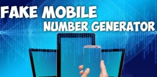 fake mobile number generator