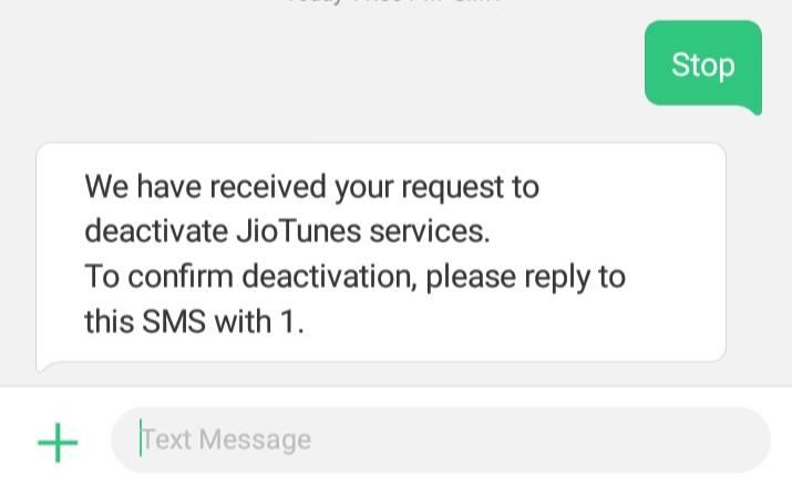 deactivate jio caller tune