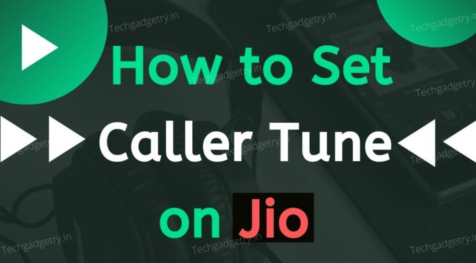 How to set Jio Caller Tune