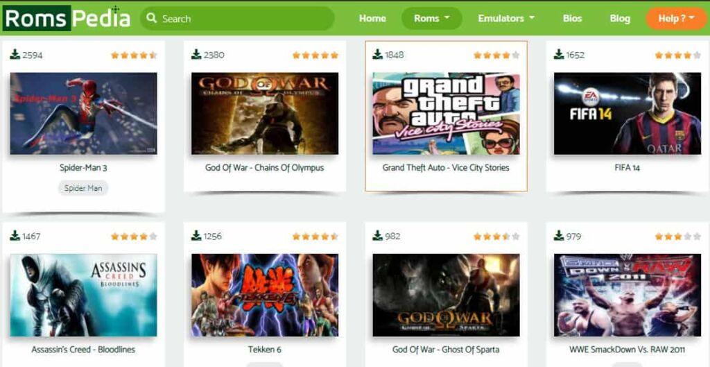 Romspedia PC games download website