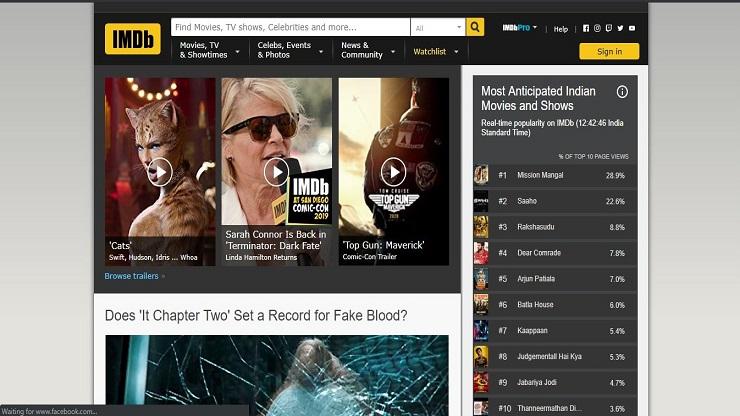 watch movies rating on IMDb