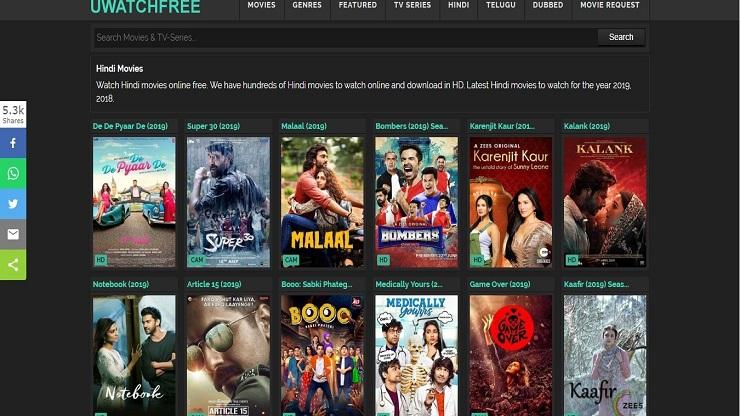 UWatchFree blockbuster movies free