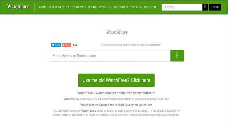 Watchfree.su movie Hollywood downloading site