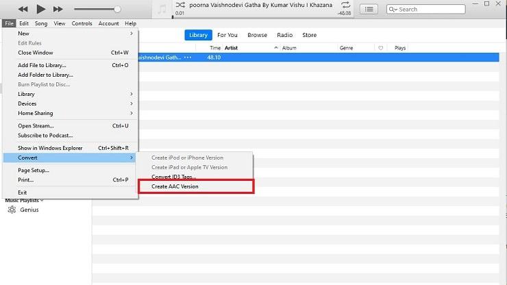 Set Ringtone on iPhone via iTunes