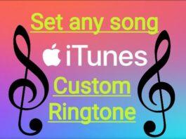 Apple iTumes to set custom ringtohe