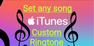 Apple iTumes to set custom ringtohe