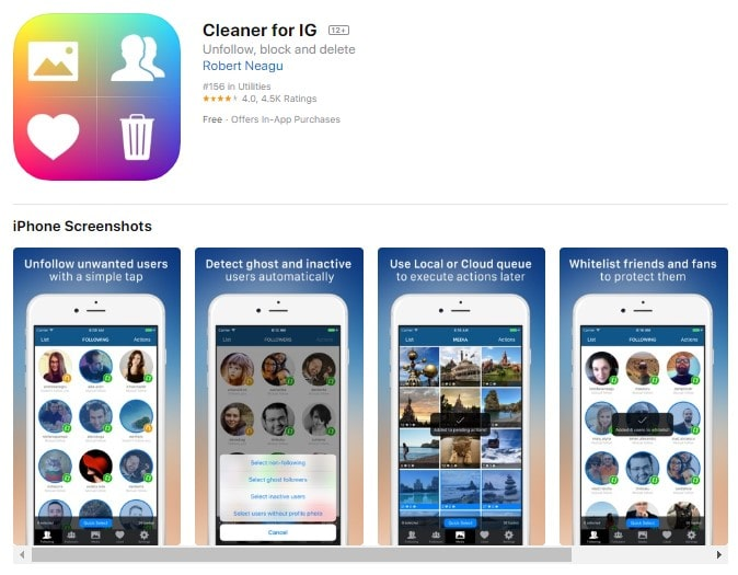 Unfollow Cleaner for Apple