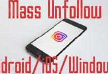 Mass unfollow on instagram in bulk