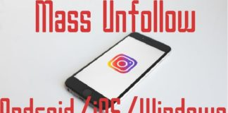 Mass unfollow on instagram in bulk