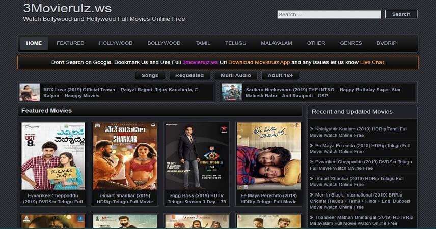 Movierulz website movies download