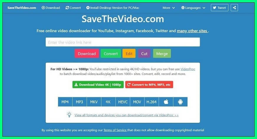 Use SaveTheVideo to save online videos
