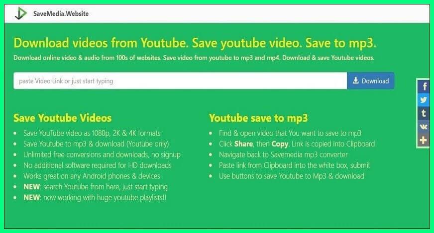 Savemedia free online media conversion