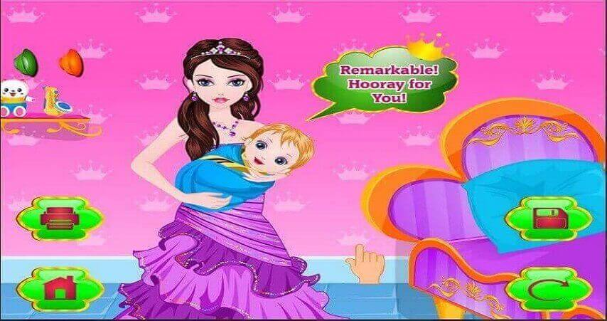 princess give birth a baby_Best Android Games for Girls
