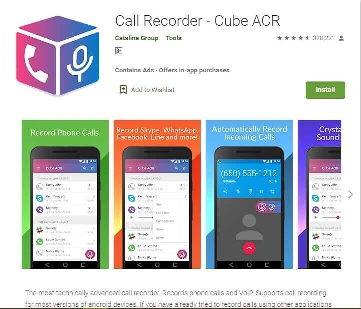 Call Recorder ACR to record voice calls on Android