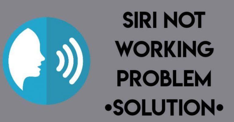 iOS 13 Siri not working problem solution