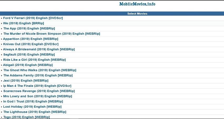 Mobilemovies.info mobile movies download