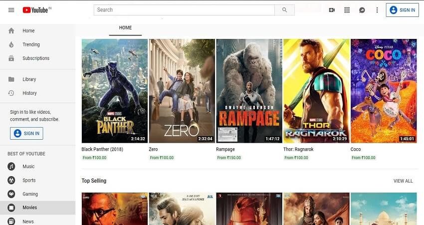 Download mobile movies from Youtube