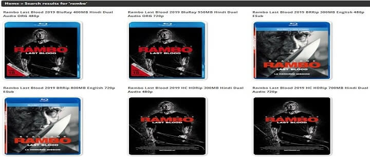 Rambo Last Blood hindi dubbed Bolly4U