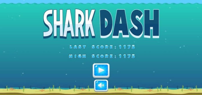 Shark Dash Android game less than 1 mb