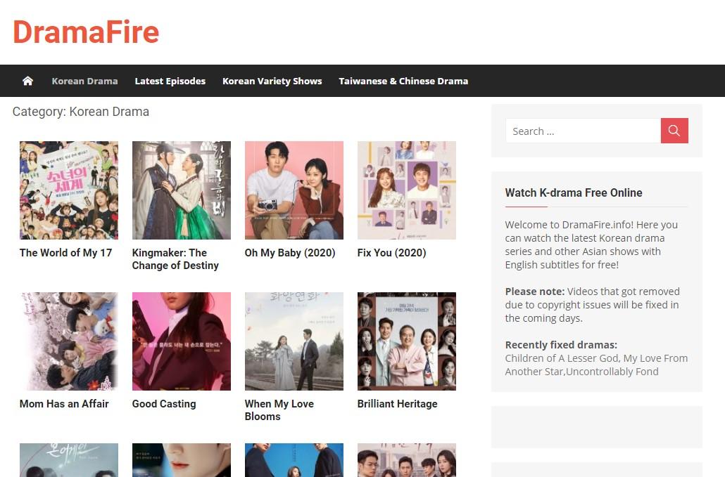 Dramafire.com korean dramas download
