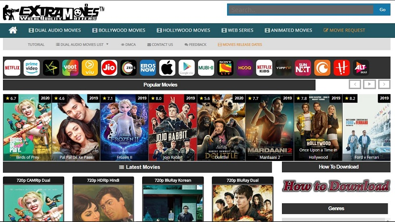 Extramovies movie downloading website