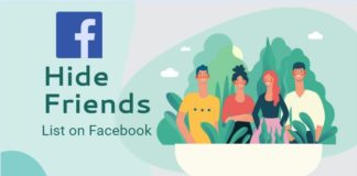 Hide Friend list on Facebook