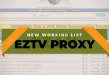 EzTV proxy Sites List UK 2020