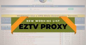 EzTV proxy Sites List