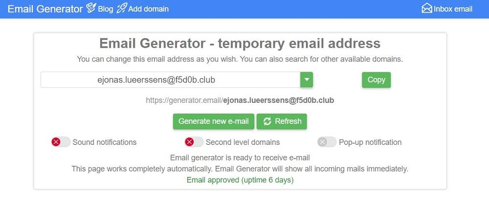 Generator.email