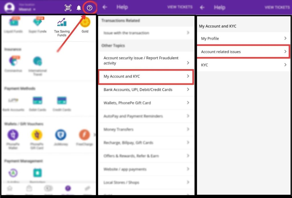 How to permanently delete Phonepe account