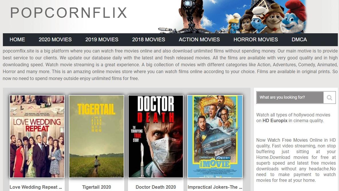 Popcornflix site