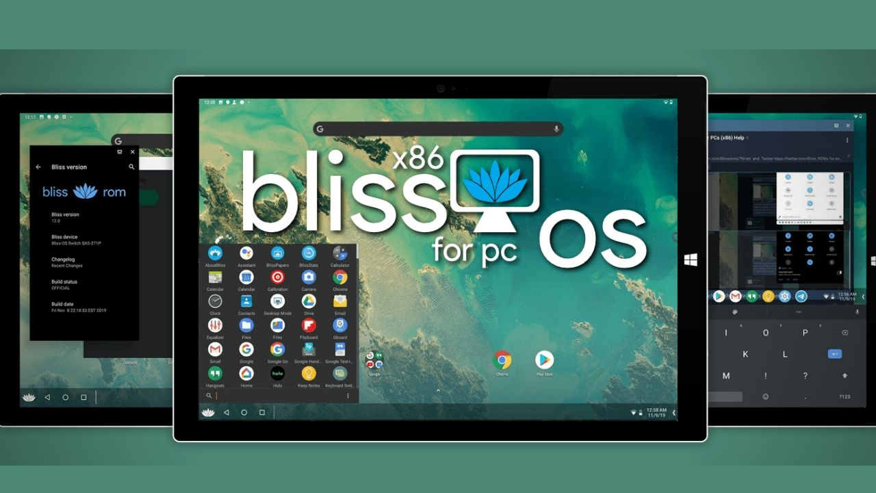 Bliss OS android emulator for windows