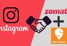 Instagram Partners Zomato and Swiggy restaurants