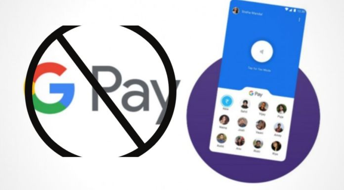 google pay banned in India