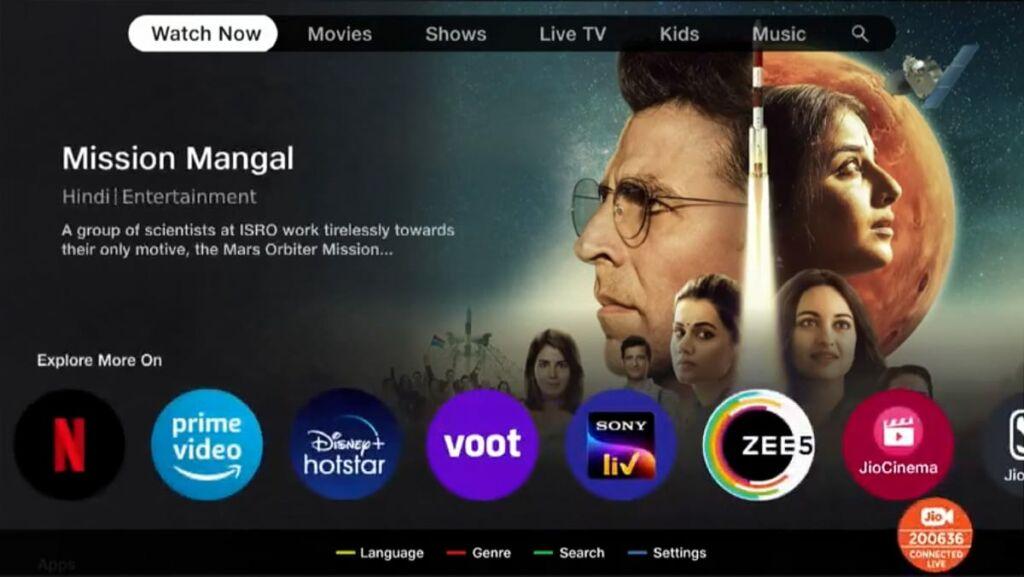Jiotv plus launch india