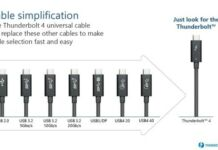 Thunderbolt cable simplification