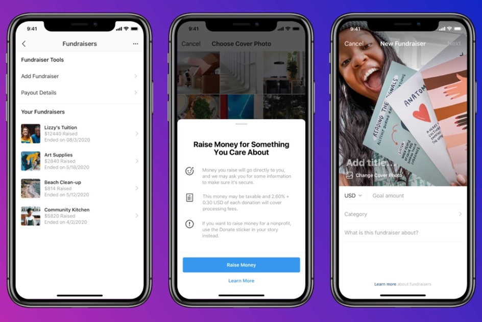 Instagram Testing new Personal Fundraisers Feature