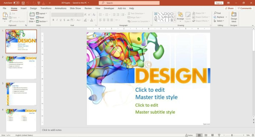 Free Design PPT Template