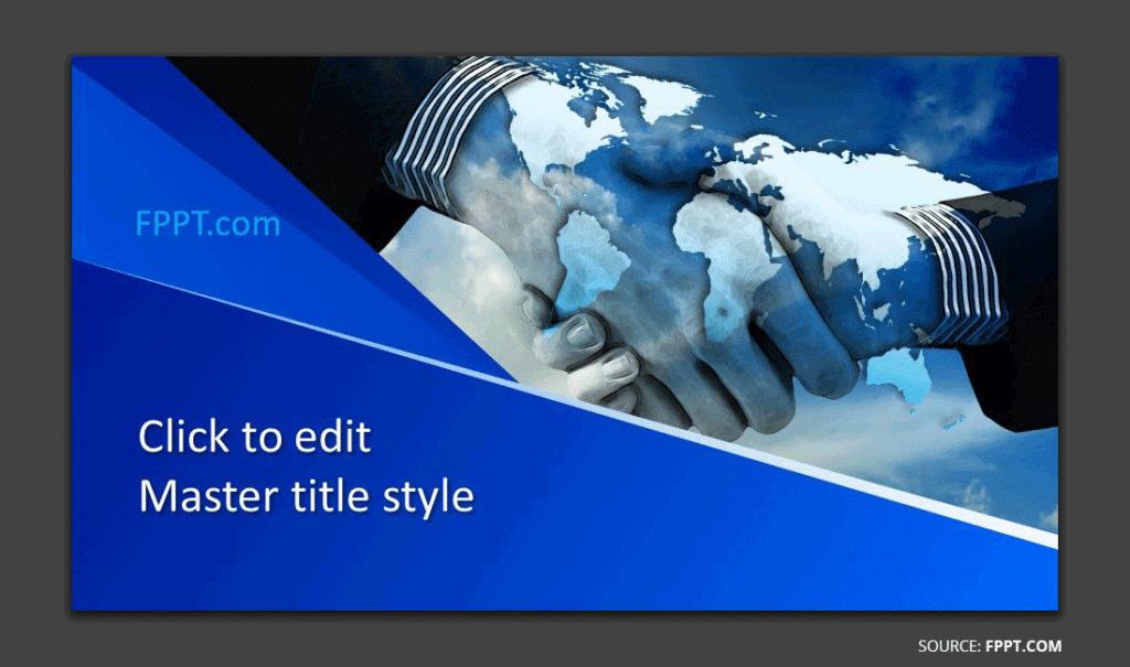 Free Handshake PowerPoint template