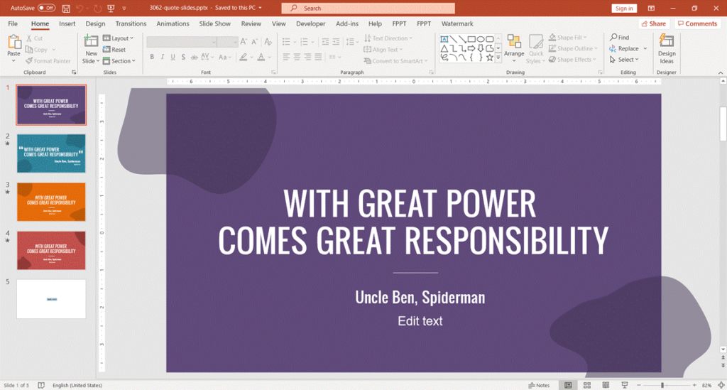 4. Free Quote Slides for PowerPoint