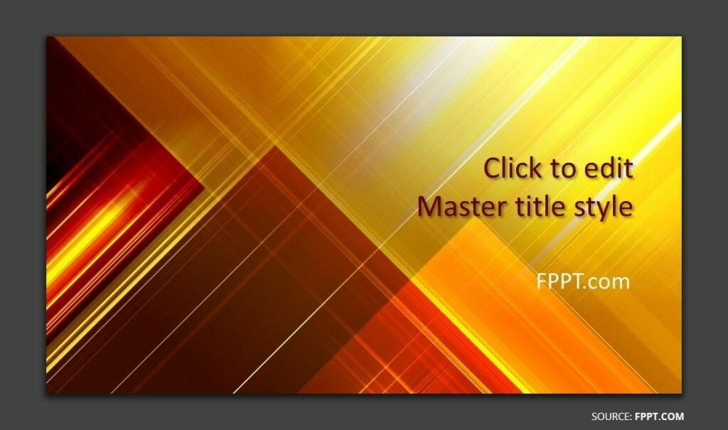 Free Yellow Abstract PowerPoint Template