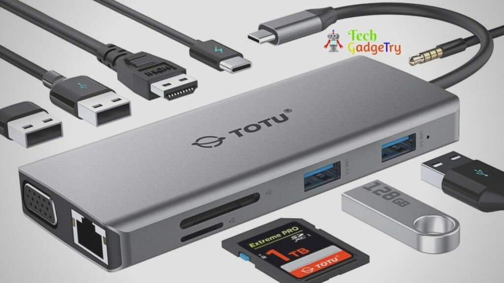 TOTU USB Type C Hub with power adapter