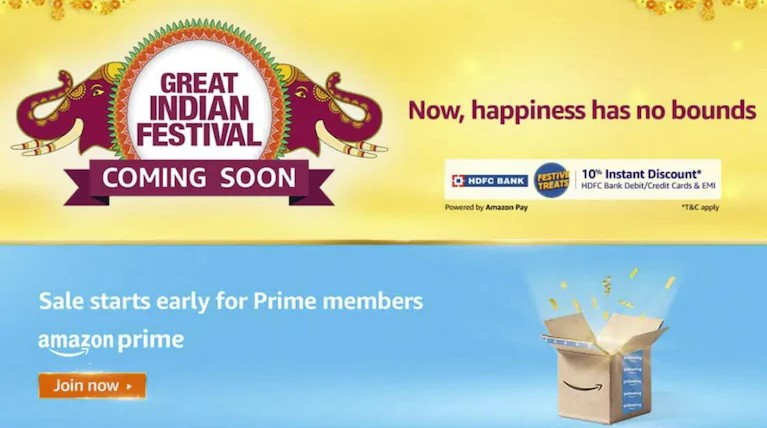 Amazon upcoming Great Indian Festival Sale 2020