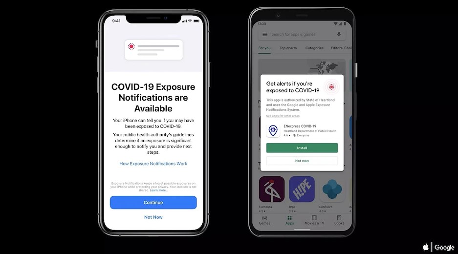 Google, Apple releases Covid-19 exposure notifications