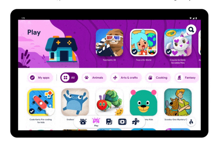 Google kids space mode launch for android devices