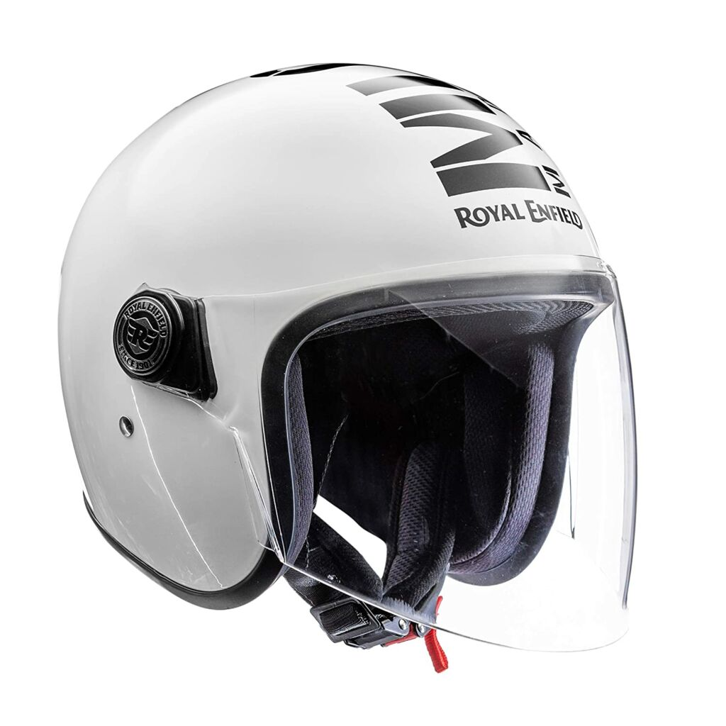 Royal Enfield Open Face with Visor MLG Helmet Gloss White (M)57
