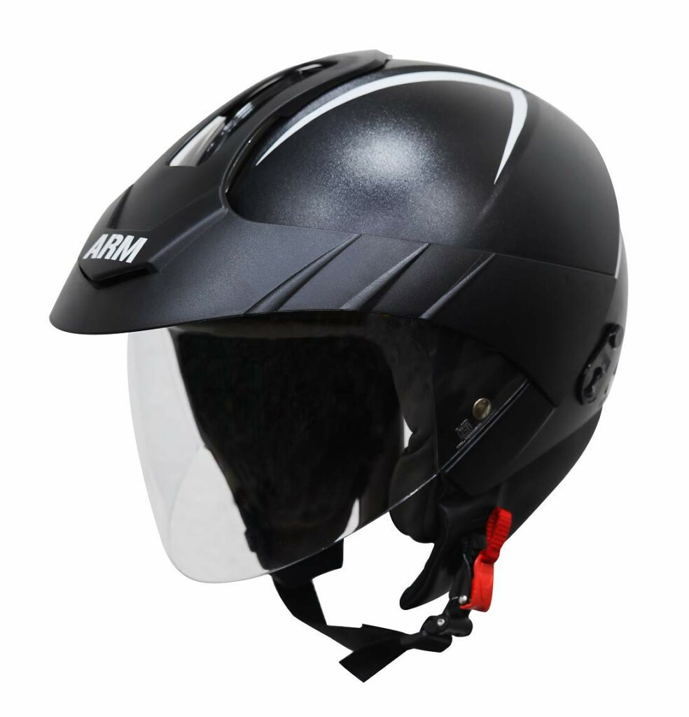 Steelbird SB-33 ARM 7Wings Open Face Helmet with Peak Cap