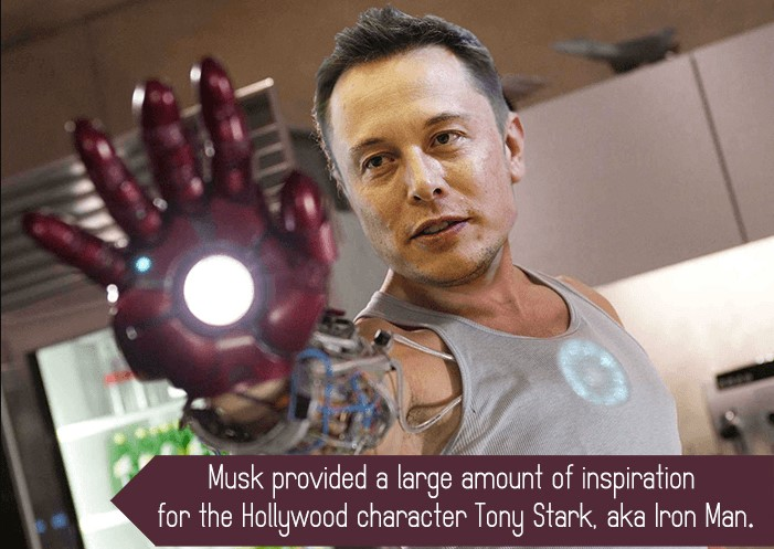 Musk as inspiration for Iron Man