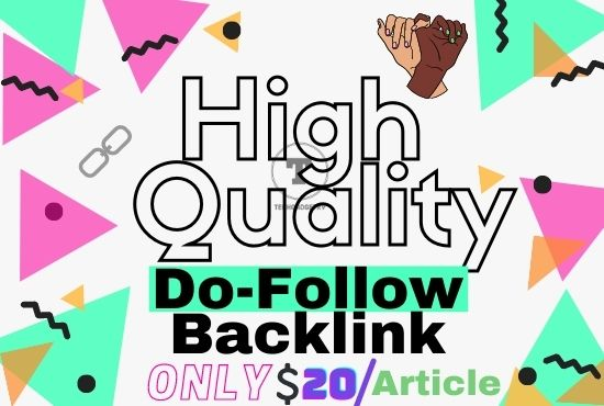 High Quality dofollow content backlink